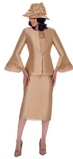 GMI, g7763, champagne skirt suit