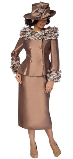 giovanna, g1103, chocolate church suit, brown church suit