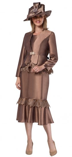 giovanna, g1104, dressy brown church suit