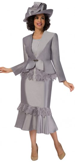 giovanna, g1104, silver dressy skirt suit