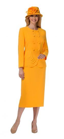 giovanna, yellow skirt suit, apricat skirt suit
