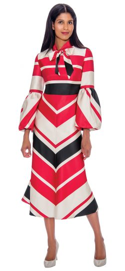 Nubiano, dn2811, red print church dress