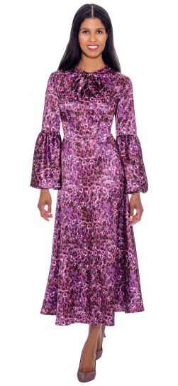 1 piece purple print dress, dn2671