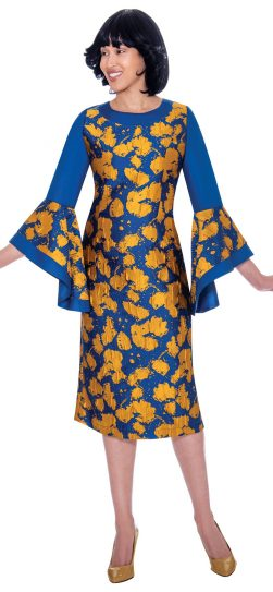 Nubiano, dn2841, royal print dress