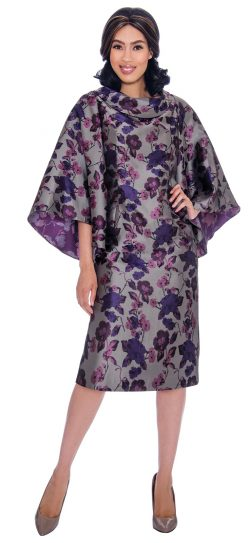 Nubiano, dn2851,purple print dress