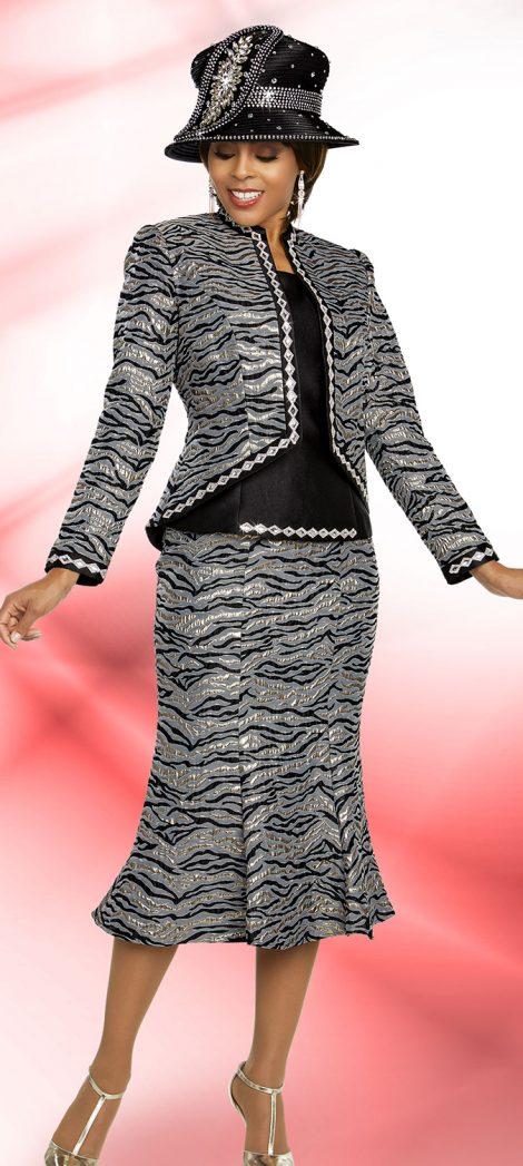 benmarc, 48276, silver-black church suit