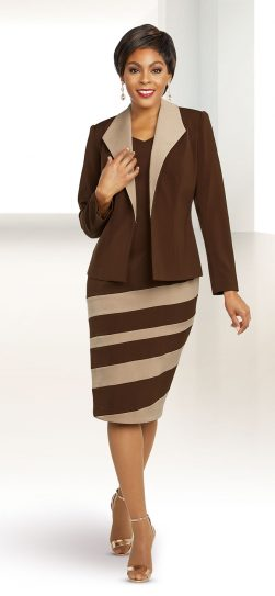 benmarc executive,11804, brown jacket dress