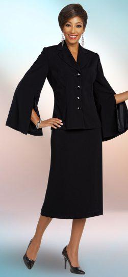 benmarc executive, 11809,black skirt suit