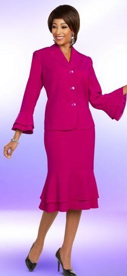 benmarc executive, 11810, fuchsia skirt suit