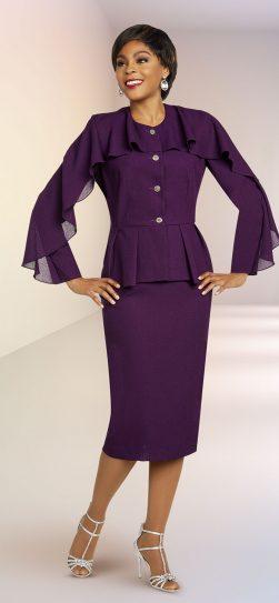 benmarc executive, 11811m eggplant skirt suit