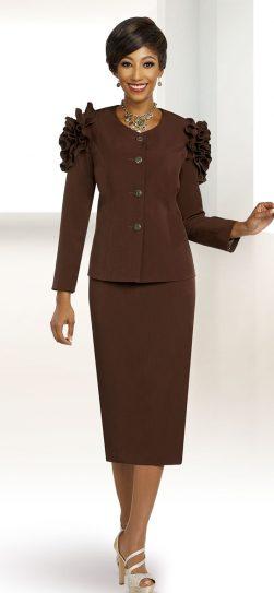 benmarc executive, 11813, chocolate skirt suit