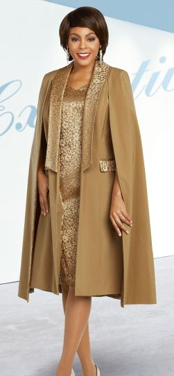 benmarc executive,11843, gold cape dress