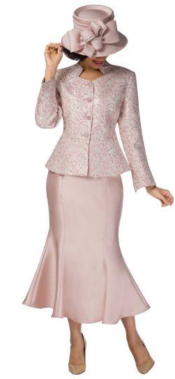 giovanna,g1116, pink-gold brocade skirt suit