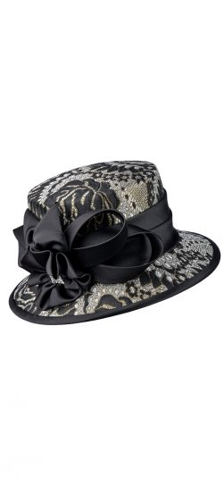 giovanna, hg1102, black-gold church hat