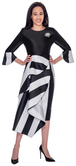 black-white dressy dress, dn2751