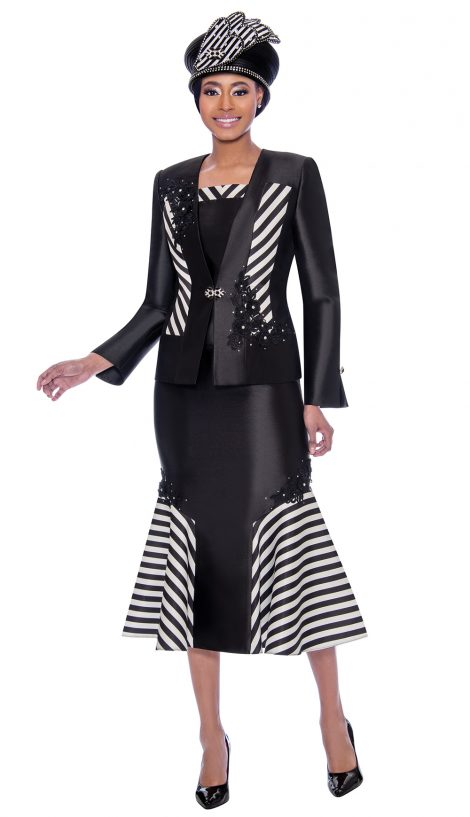 susanna, 3917, black and white church suit