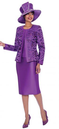 susanna, 3923, purple church suit