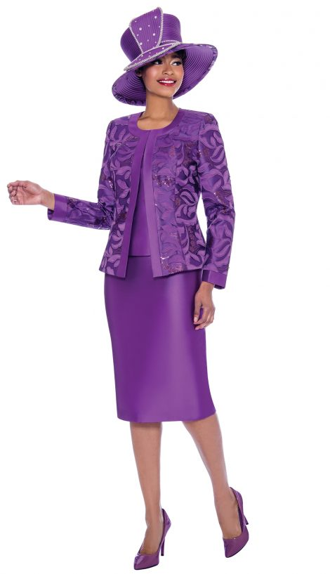 susanna, 3923, purple church suit