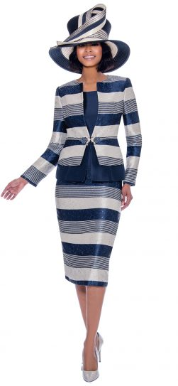 susanna, 3927, navy print church suit