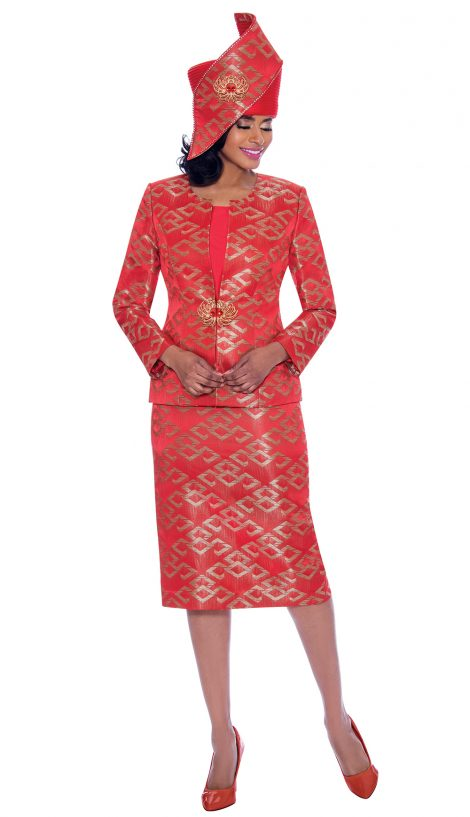 susanna, 3932, red dressy church suit