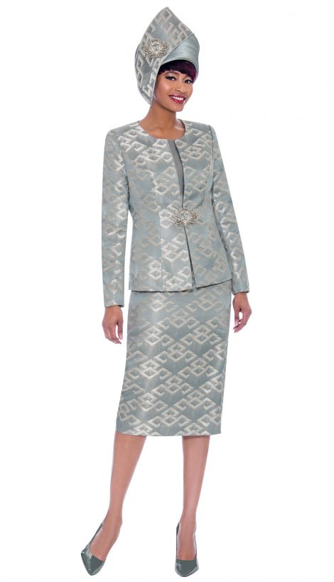 susanna, 3932, steel color church suit