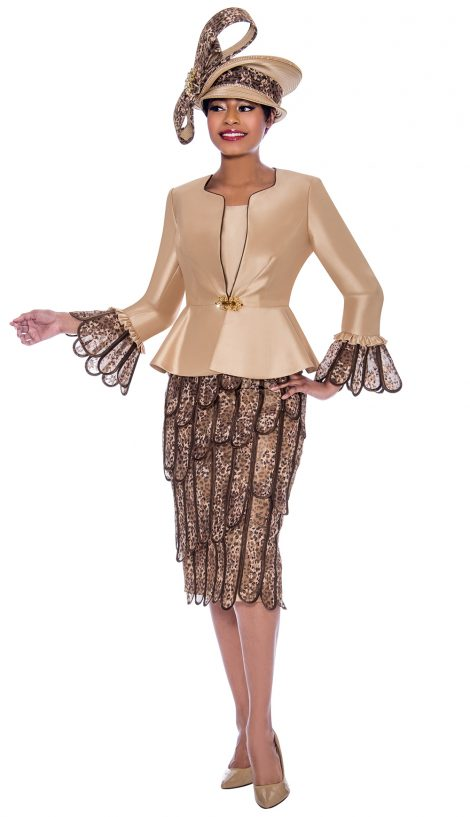 susanna, 3935, gold print church suit