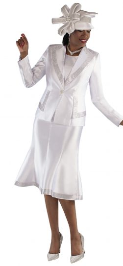 tally taylor, 4697, white dressy church suit