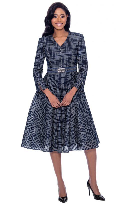 susanna, 1 piece dress, 3936, navy print dress