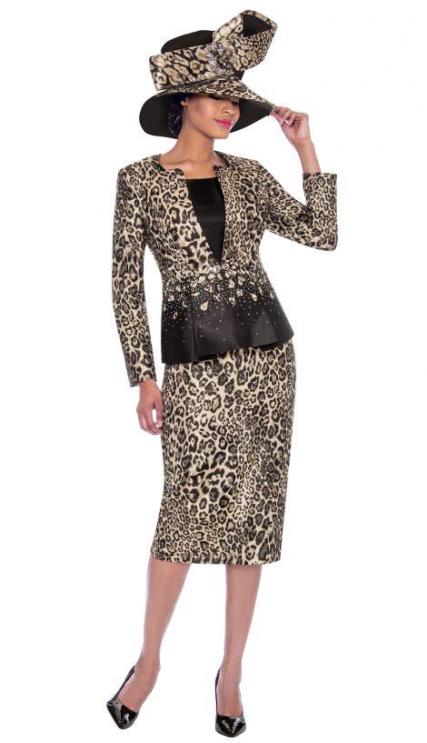 terramina, 7783, leopard print skirt suit