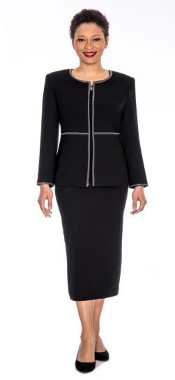Giovanna,0652,black skirt suit, cheap church suits,