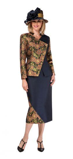 giovanna, navy skirt suit, 0934