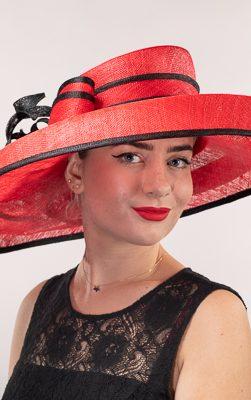 102586, red hat, red derby hat