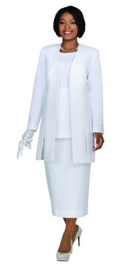 Benmarc, Usher Suit, Style 2296, White, Black, Navy, Silver