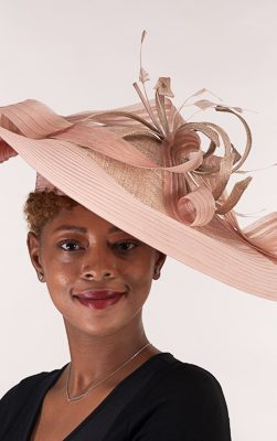 AJ609S-Taupe church hat, Kentucky derby hat