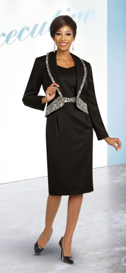 benmarc executive,11832, black-gold skirt suit