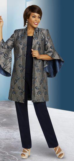 benmarc executive,11840, navy pant suit