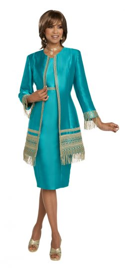 donnavinci, 11781, emerald jacket dress