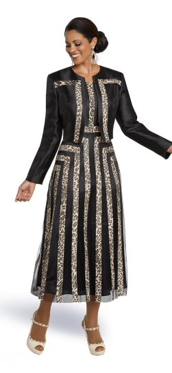 Donnavinci,11782, black-gold jacket dress