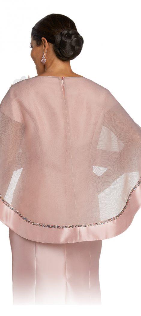 donnavinci, 1783, pink cape dress