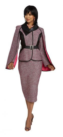 donnavinci, 5654, fuchsia skirt suit,