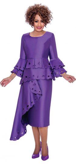 Dorinda clark-come, purple dressy dress, dcc2311