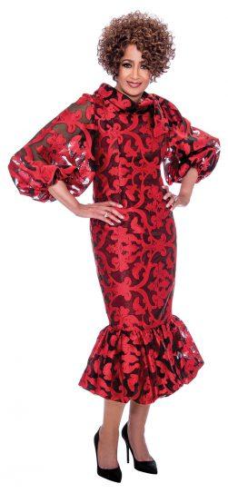 dorinda clark-cole, dcc2351, red party dress