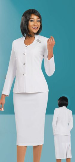 Benmarc skirt suit 78096 White