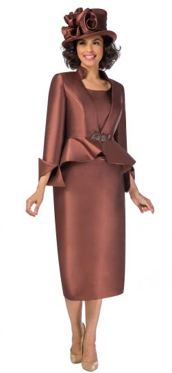 giovanna, g1085, chocolate skirt suit