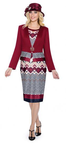 giovanna, g1090, burgundy skirt suit