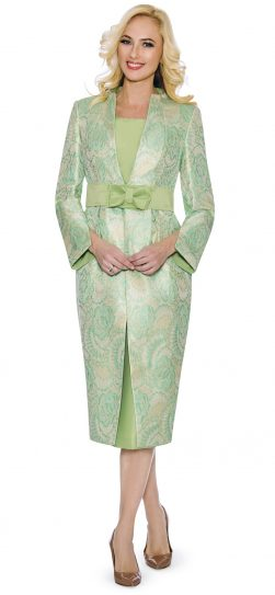 giovanna, g1102, mint-gold skirt suit