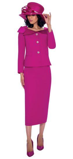 gmi, 7622, magenta skirt suit