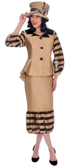 gmi, g7632, gold skirt suit