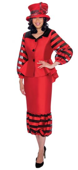 GMI, 7632, red skirt suit