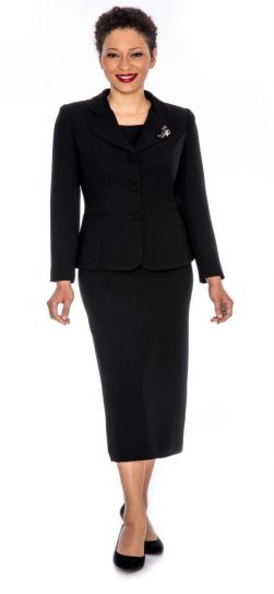 Giovanna,skirt suit, black usher suit, 0824